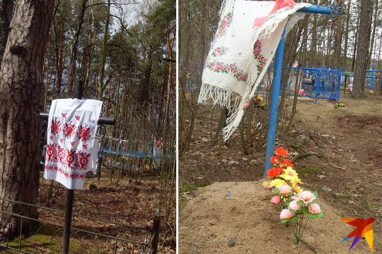 К Радунице на могилах меняли завязанные год назад ручники или платки. Фото: Татьяна КУХАРОНАК