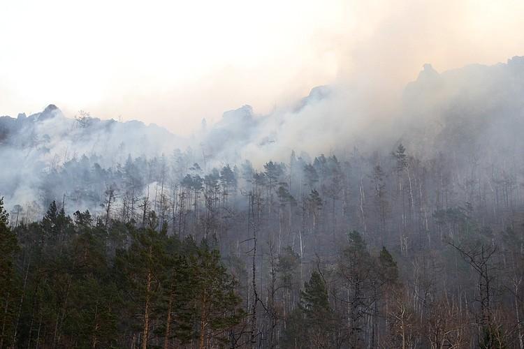 Пожары в Иркутской области.