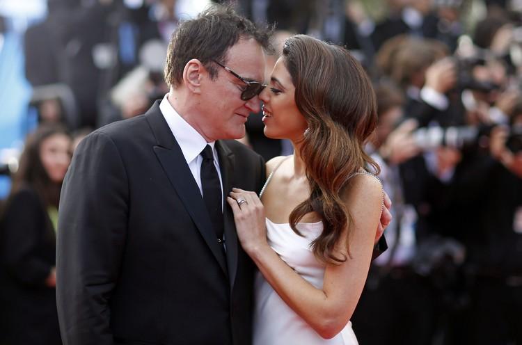 Квентин Тарантино с женой.