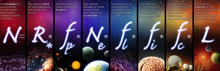 Уравнение Дрейка, с помощью которого можно прикинуть количество внеземных цивилизаций.