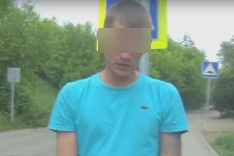 Один из задержанных на месте преступления рассказывает, как похищали человека. Фото: УФСБ России по Иркутской области