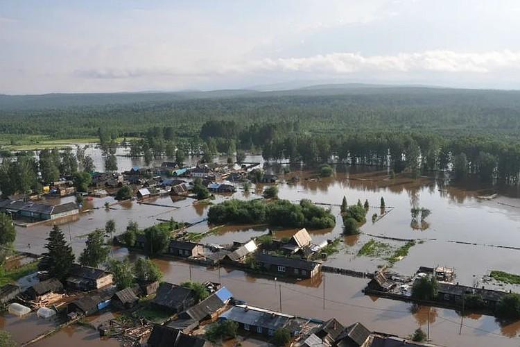Так выглядит затопленный Тулун.