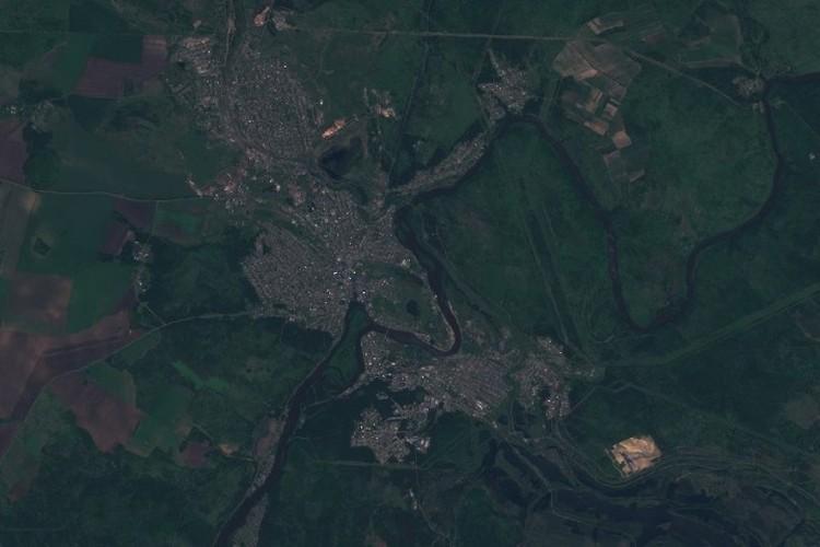 А так выглядел Тулун всего за 7 дней до наводнения. Фото: сайт Sentinel Hub.