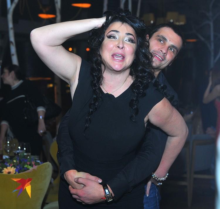 Лолита Милявская с мужем Дмитрием в 2011 году.