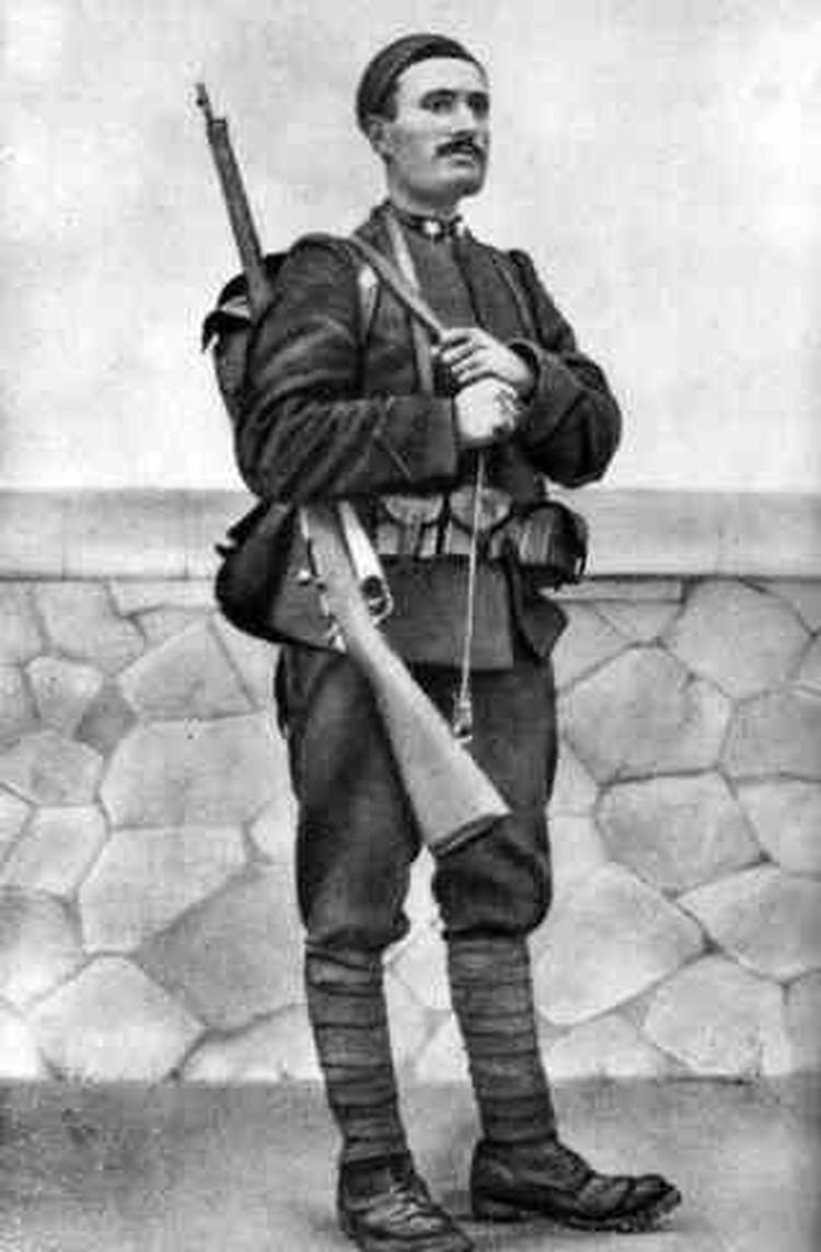 Бенито Муссолини в 1917 году.