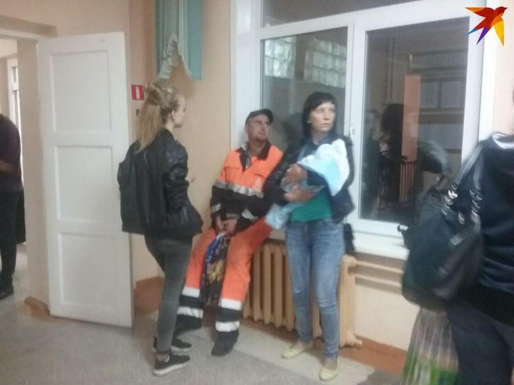 Эвакуационный пункт в ачинской школе №1