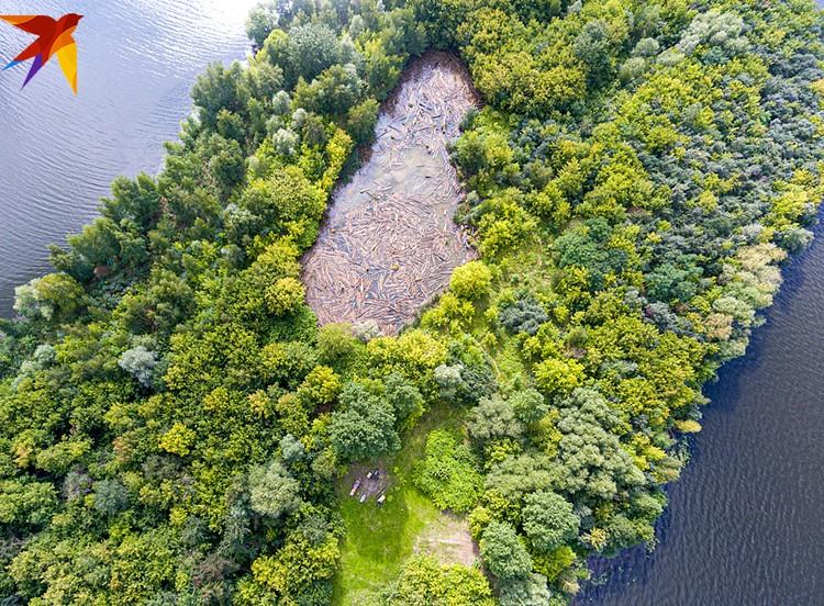 Корреспонденты «Комсомолки» открыли необитаемый остров посреди Москвы-реки
