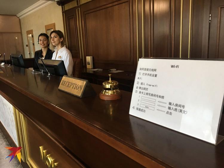 В гостиницах - таблички на китайском.