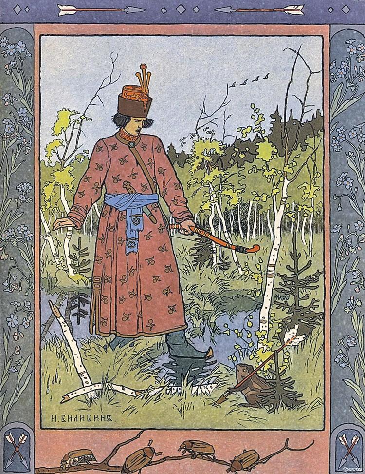 Одна из самых знаменитых иллюстраций Ивана Билибина к сказке «Царевна-лягушка».