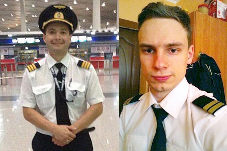 Пилоты совершившего аварийную посадку самолета А-321 в Жуковском Дамир Юсупов и Георгий Мурзин. Фото: соцсети
