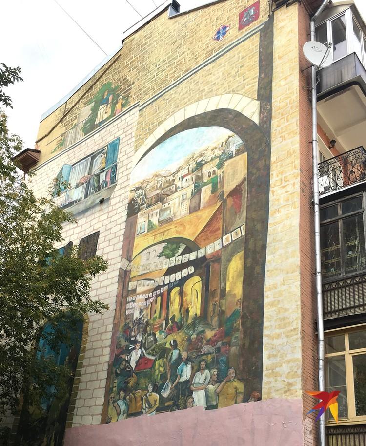 Рисунок рынка в доме 9 по Большому Харитоньевскому переулку.