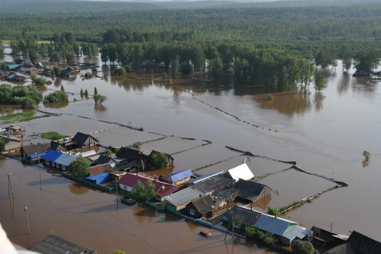 Так выглядел Тулун в первые дни паводка. Фото: ГУ МЧС России