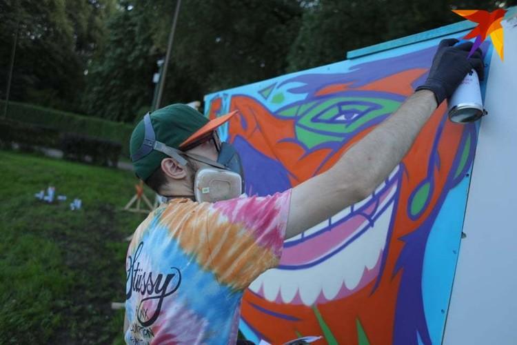 На отдельной зоне рисовали граффити