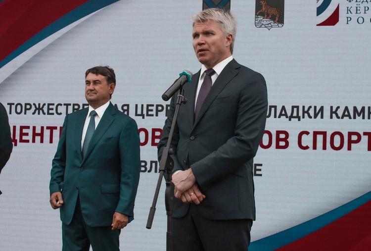Павел Анатольевич Колобков, Министр спорта России рассказал, что для проекта был выделен один из лучших видовых участков города