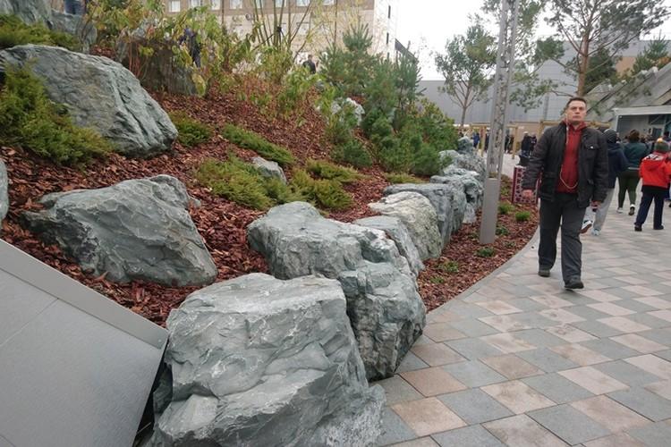 Одна из особенностей парка - холмистый ландшафт