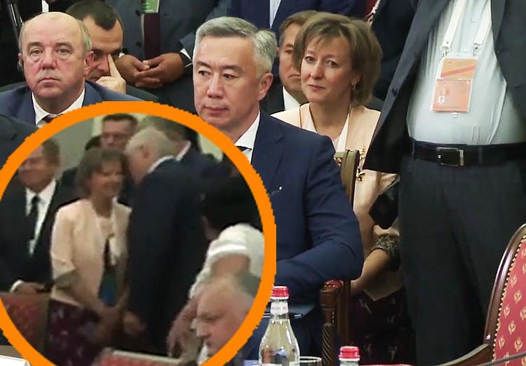 Вот эта женщина крупнее. Кадр пресс-службы премьер-министра Армении.
