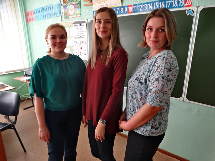 Мария Габова, Елена Смычок, Мария Бехт - учительницы начальных классов