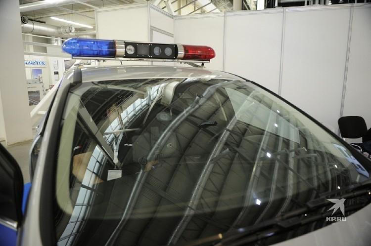 """Демонстрировали посетителям не саму технику, на которой передвигаются инспекторы ГИБДД, а устройство, примостившееся аккурат по центру """"мигалок"""" на крыше"""