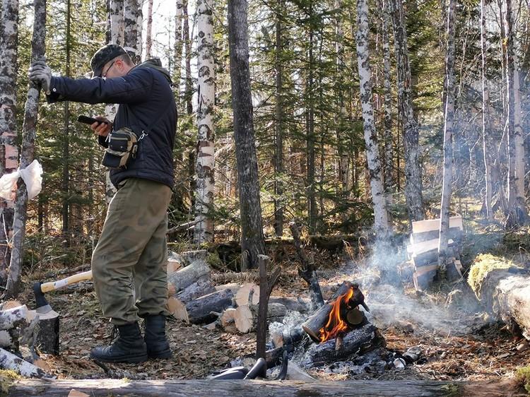 Лагерь поисковиков Фото: Алексей Шатыгин