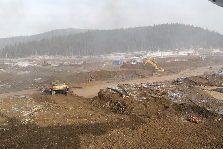 Рабочий поселок возвели в зоне потенциального затопления Фото: ГУ МЧС по Красноярскому краю