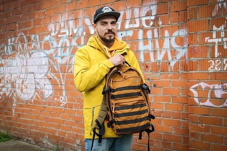 Этот рюкзак Дима сделал сам