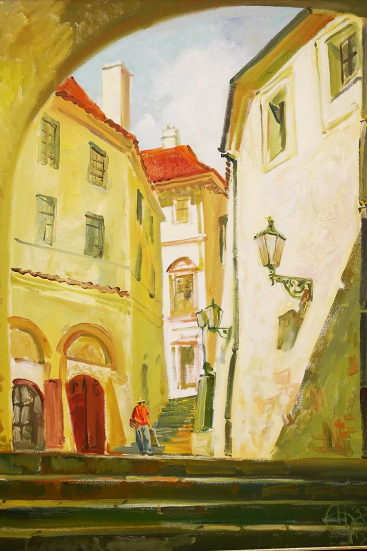 Одна из работ Андрея Базанова, созданная во время творческой экспедиции в Чехию.
