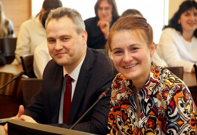 Мария Бутина встретилась со студентами и преподавателями АлтГУ. Фото: asu.ru
