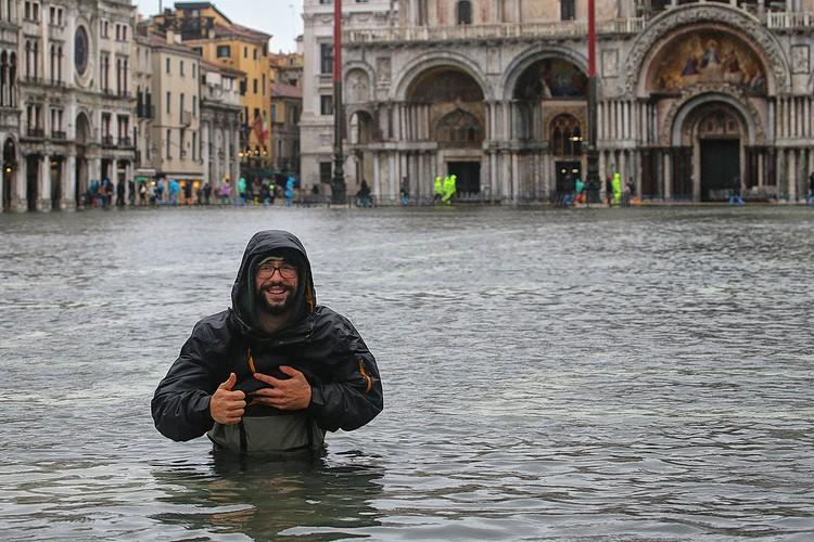 Затопленная площадь Святого Марка.