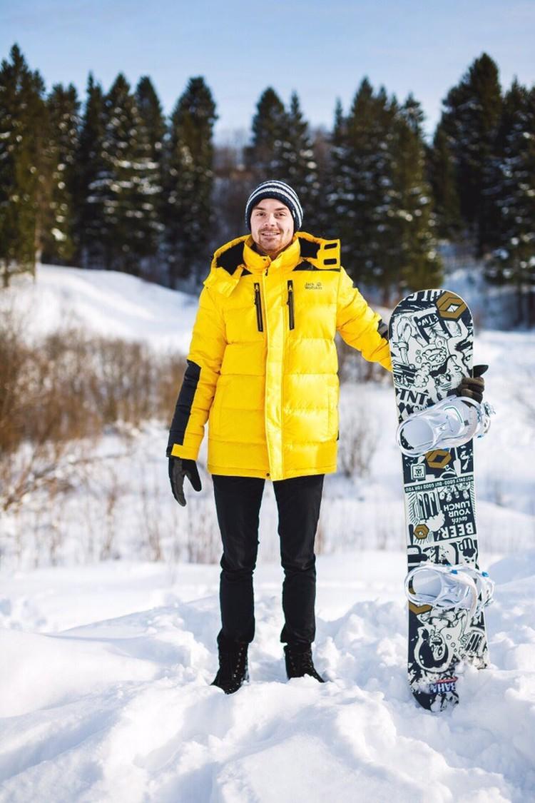 Реклама зимней одежды. Фото Михаила Самарина