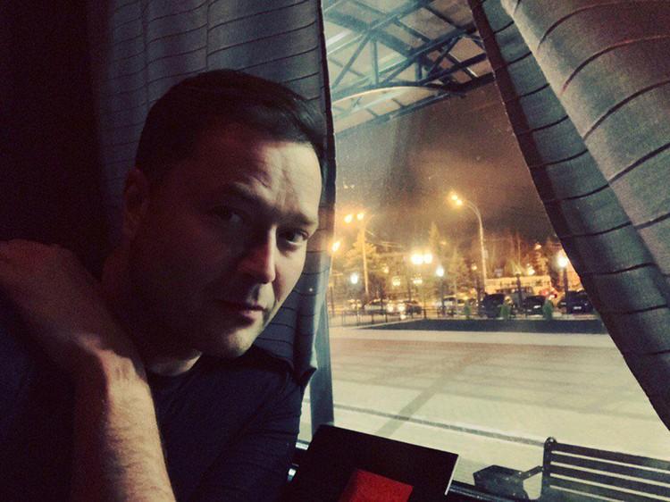 Одна из последних фотографий Никиты Исаева, сделанная в командировке в Тамбове