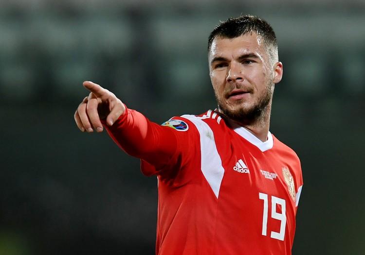 Николай Комличенко забил свой первый гол за сборную России.