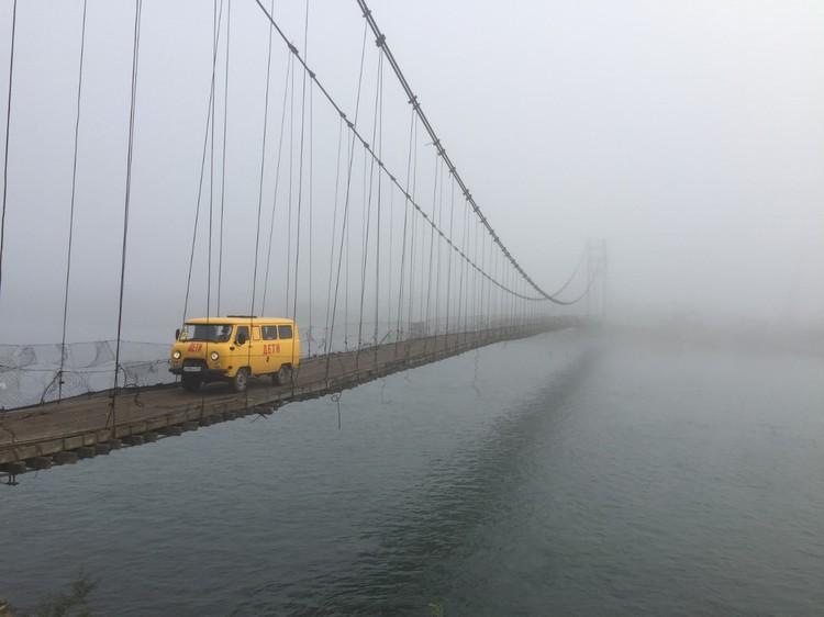 Деревянный мост под Тюнгуром