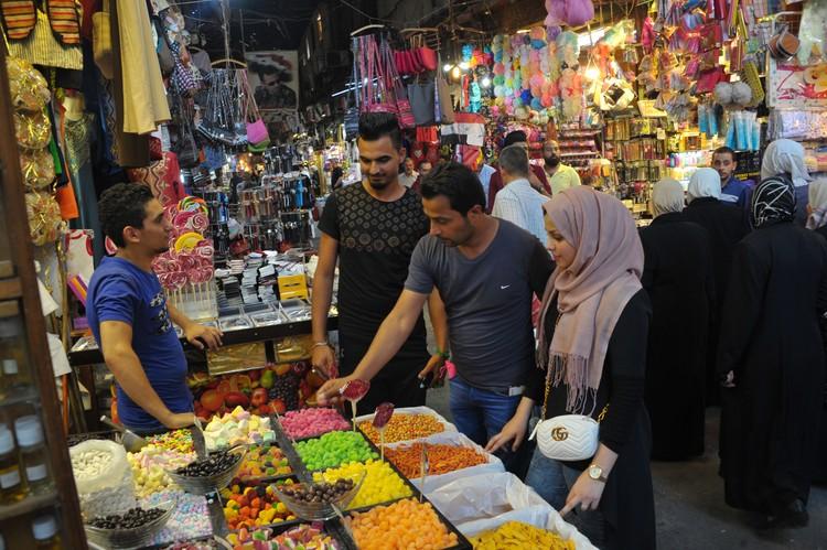 Городской рынок Дамаска.