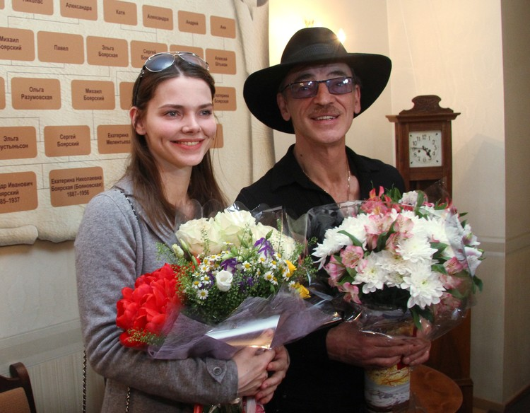 Михаил Боярский и его дочь Лиза Боярская.