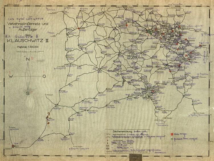 Сеть путей сообщения между концлагерями, расположенными на территории Польши. Фото: Минобороны РФ