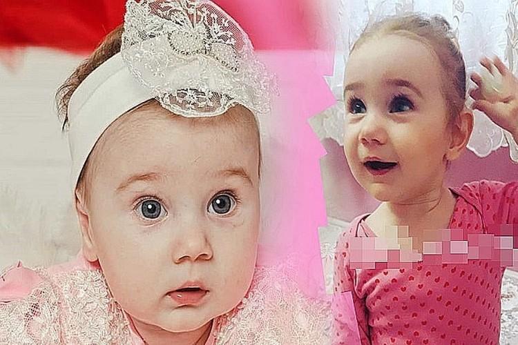 На первом фото девочке 5 месяцев
