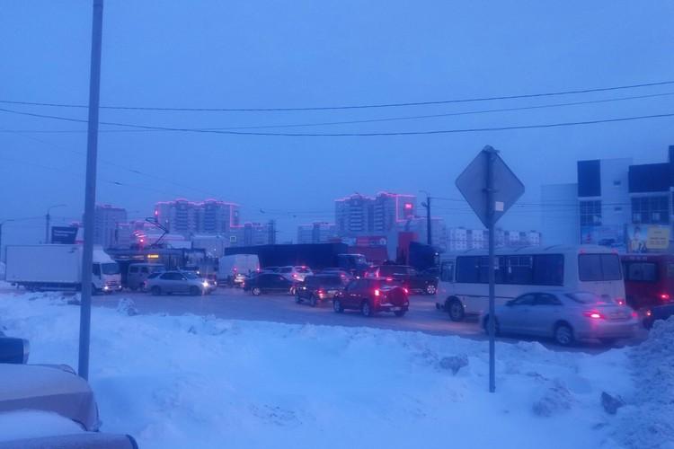 Пробка в Барнауле. Фото: Александр Кольцов в Barnaul 22