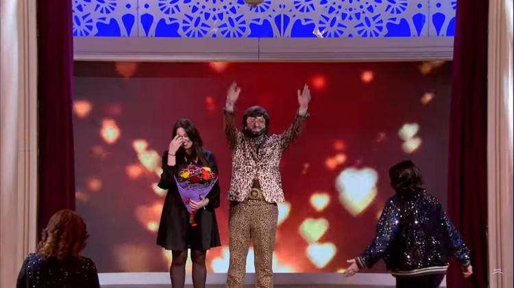 Неожиданная развязка: Людвиг выбрал подругу одной из конкурсанток. Фото: кадр шоу «Давай поженимся!»