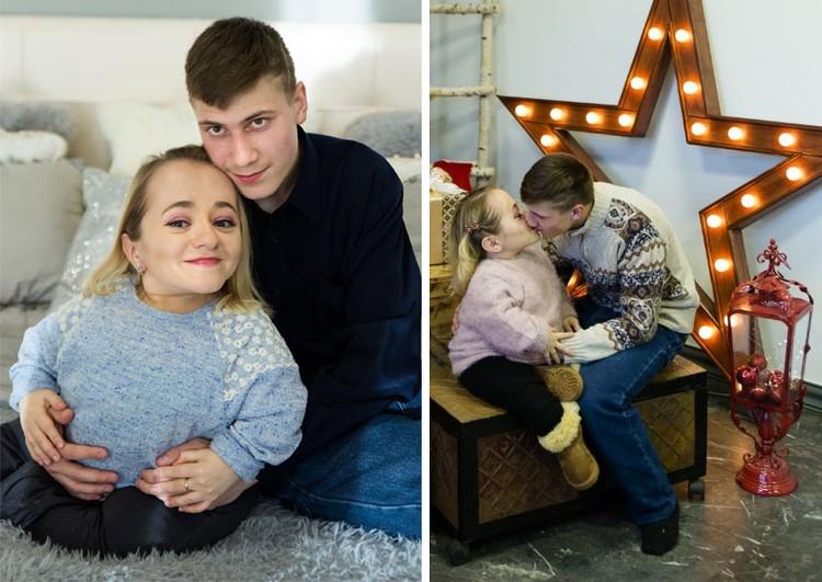 Новогодняя фотосессия Яны и Володи. Фото из личного архива героев материала