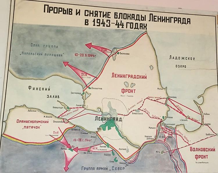Бои под Ленинградом.