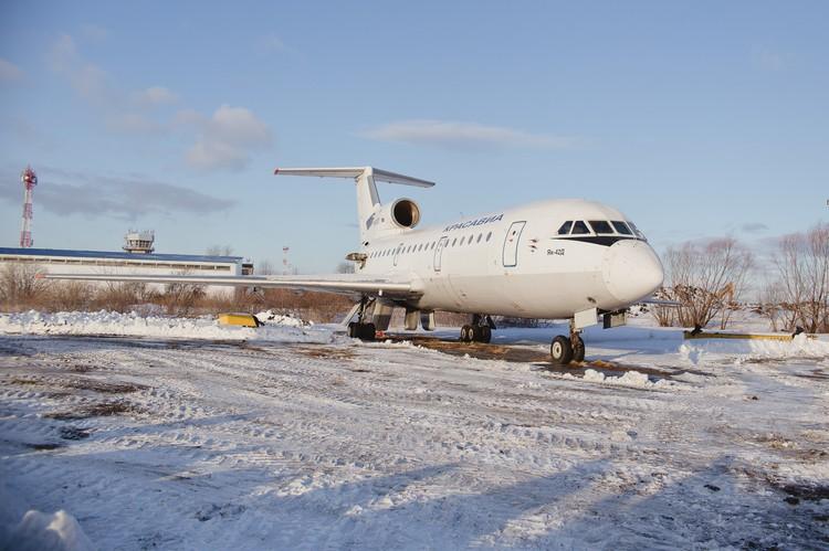 Учения проходили в самолете Як-42Д. Он сейчас находится на ремонте.