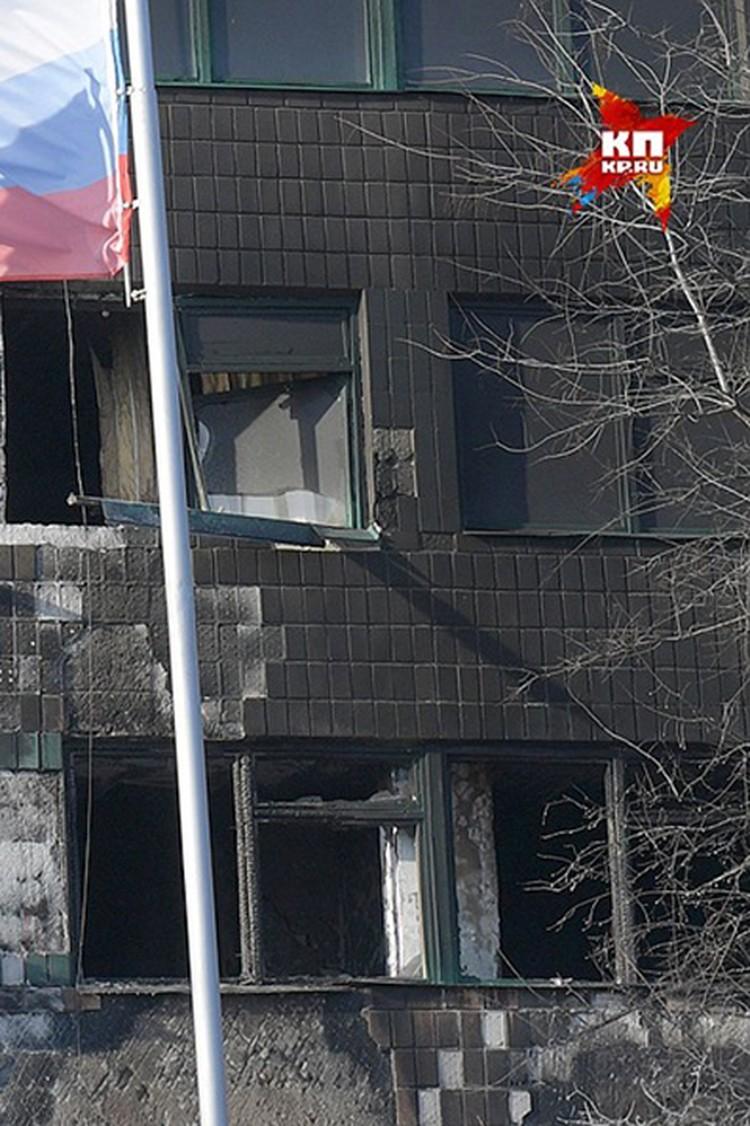 Эпицентр взрыва на втором этаже