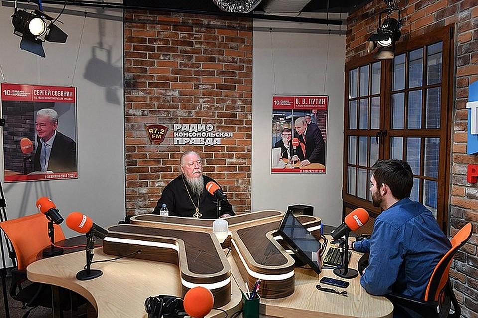 Димитрий Смирнов на Радио «Комсомольская правда» Фото: Иван МАКЕЕВ