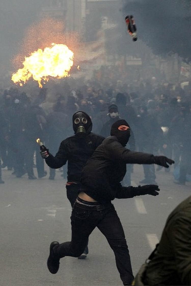 Это фото уличных протестов опубликовано на странице Даниила.