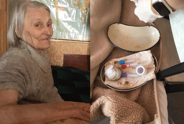 У бабушки взяли кровь на анализ. Инструменты не вызывают доверия. Точно ли тут все стерильно? Фото: предоставлено Юрием Ушаковым.