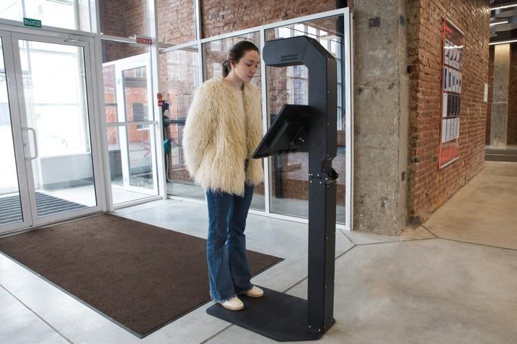 """Терминал может измерить температуру у 1000 человек за час. Фото: """"Промобот"""""""