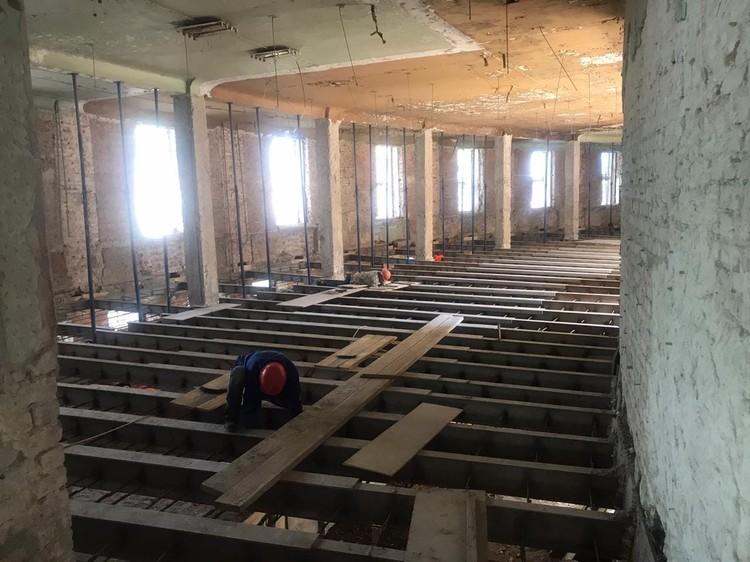 Вот так идет ремонт в здании Фабрики-кухни