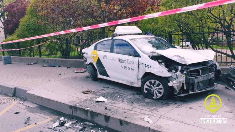 Водитель такси уже задержан Фото: https://vk.com/dorinspb