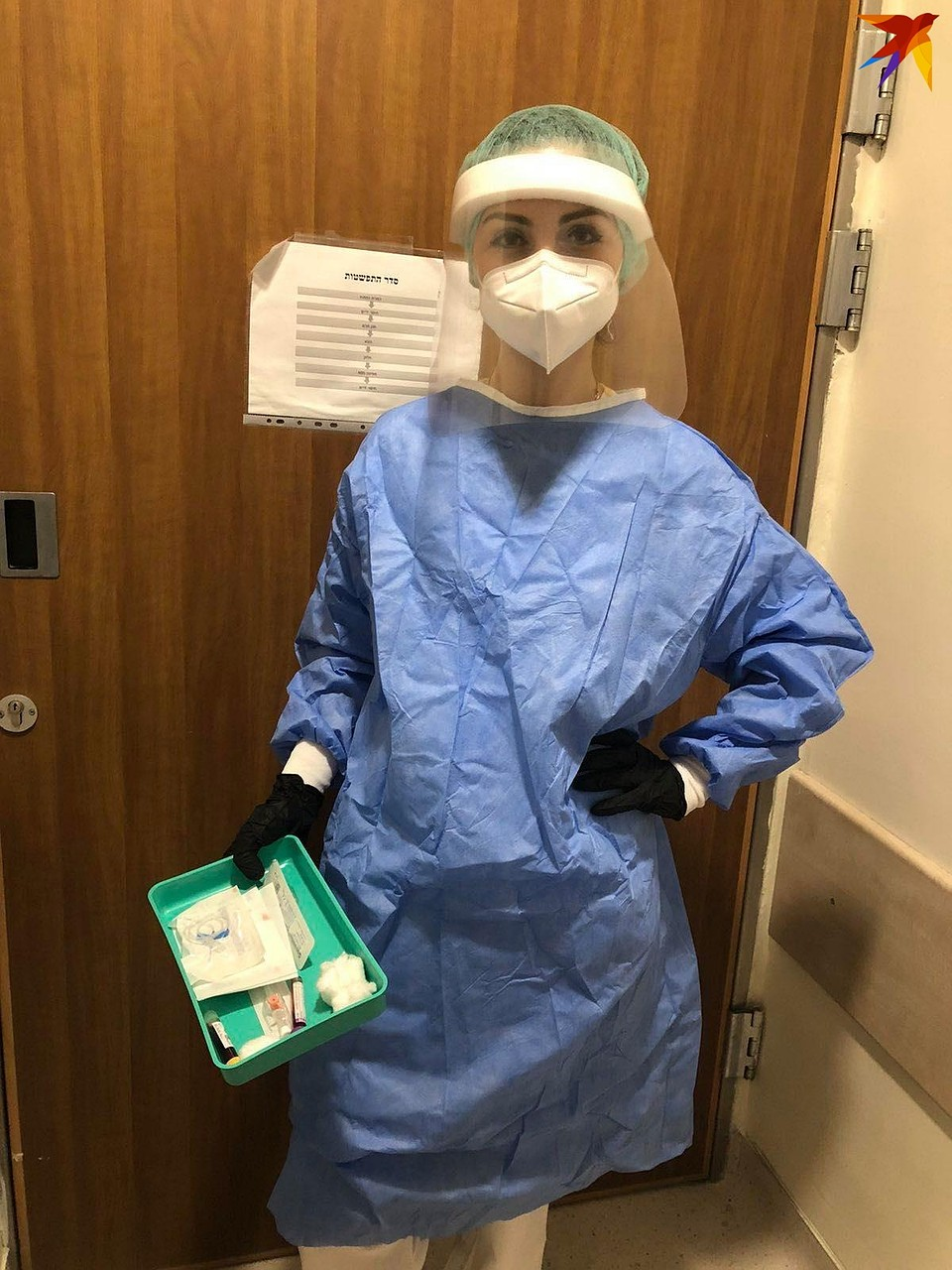 Галя работает в больнице, где принимают пациентов с подозрением на коронавирус. Фото: личный архив.