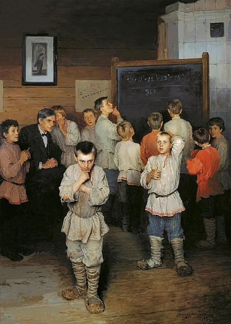 Быт земских школ живописал Николай Богданов-Бельский. Фото: Wikipedia.org